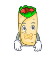 silent burrito mascot cartoon style vector image vector image