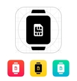 SIM card in watch icon vector image vector image