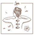 spa salon hot massage stones woman treatment vector image vector image