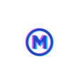 stereo m monogram vector image