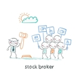 stock brokers buy stocks vector image vector image
