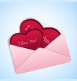 valentines in envelope vector image