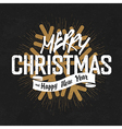 vintage christmas lettering with snowflake vector image vector image