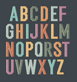 vintage kids alphabet colorful letters vector image vector image