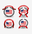 white background of colorful set flags united vector image vector image