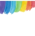 White background with water color rainbow vector image