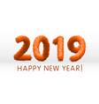 wooly orange hairy shaggy wool 2019 happy new vector image vector image