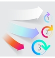 arrow origami style banner vector image
