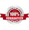 100 guaranteed button vector image