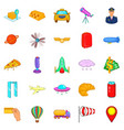 air trip icons set cartoon style vector image vector image
