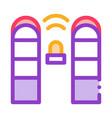 alarm signal control icon outline vector image vector image