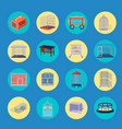 animal cage icons collection vector image