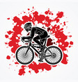 bicycle racing sport man biking vector image vector image