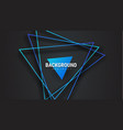 black background with intersecting blue triangles vector image vector image