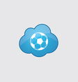 Blue cloud football ball icon vector image vector image