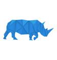 blue rhinoceros polygonal vector image vector image