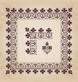 calligraphic decorative corner border with frame vector image
