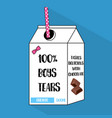cartoon bottle of boys tears with dotted vector image vector image
