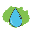 Cartoon doodle drop of water vector image