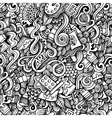 Cartoon hand-drawn doodles on the subject of Art vector image