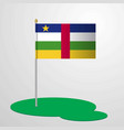 central african republic flag pole vector image
