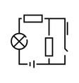 class scheme line icon concept sign outline vector image vector image