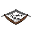 color vintage barber shop emblem vector image vector image