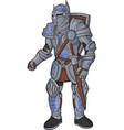 detailed cartoon knight vector image