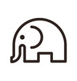 elephant sign vector image vector image
