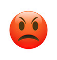 emoji red angry sad face vector image vector image