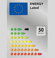 Energy label vector image vector image