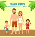 family on summer vacation social media banner vector image vector image