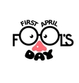 First April Fools day vector image