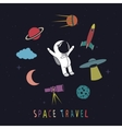 Funny astronaut vector image