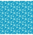 Geometric molecule design on blue background vector image vector image