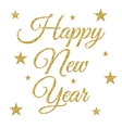 gold happy new year vector image vector image