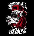 graffiti artist vector image vector image