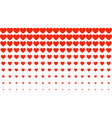 heart halftone valentines day background red vector image