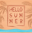 hello summer summer lettering design vector image vector image