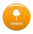 hornbeam tree icon orange vector image