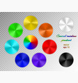 iridescent conical gradient vector image vector image