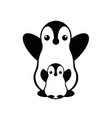 isolated penguin logo designed animals vector image vector image