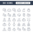 line icons childrens book day vector image