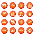 Logistic icons set vector image vector image