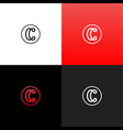 logo c in circle linear red logo of the letter c vector image vector image