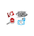 logotype r modern template set vector image vector image