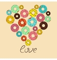 love for donut vector image vector image