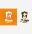 menu logo diner restaurant symbol vector image vector image