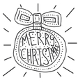 Merry Christmas background with hand lettering vector image