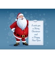 Merry Santa Claus standing vector image vector image